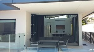 Living and Alfresco areas to Solar Pool-house at Marino by Adelaide Architect Grant Lucas are complete