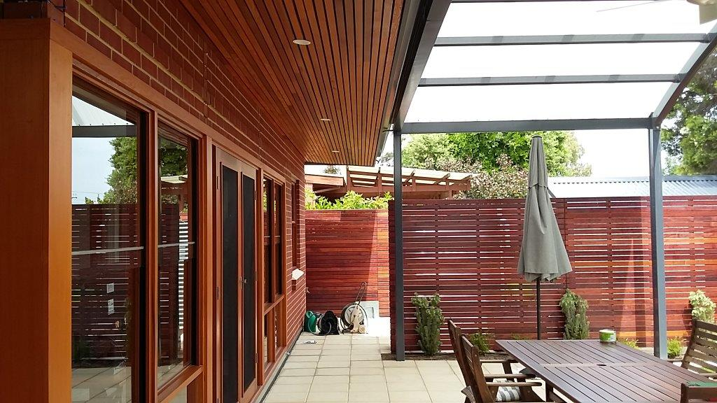 Family room Extension and Alfresco area to stone Cottage at Kent Town SA: External of verandah