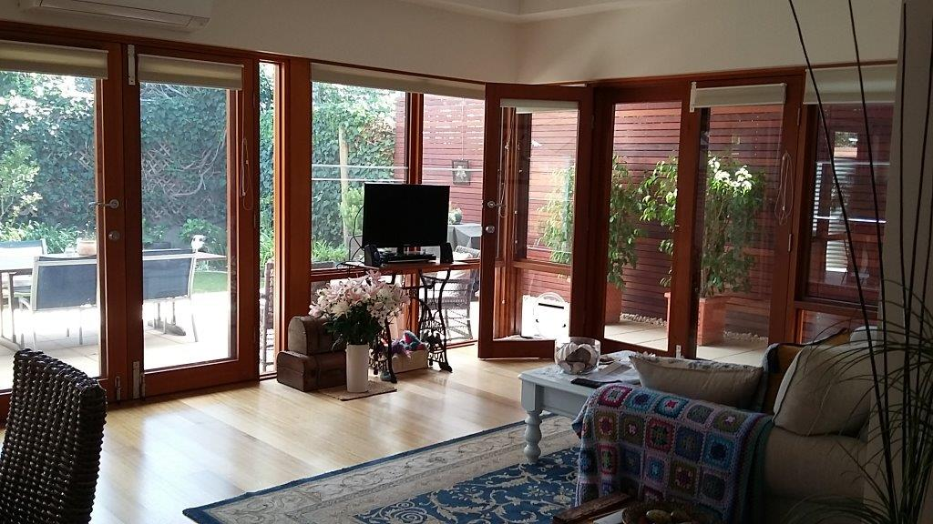 Family room Extension to  Red Brick and stone Cottage Kent Town SA: Adelaide Residential Architect Grant Lucas