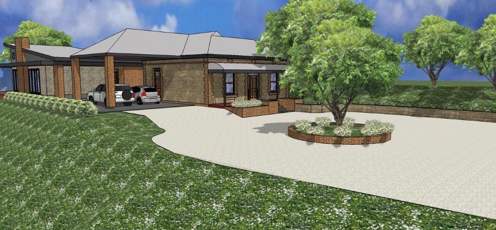New Entry for CFS and Upgraded Guest Parking to Renovated Stone Cottage located in the Adelaide Hills