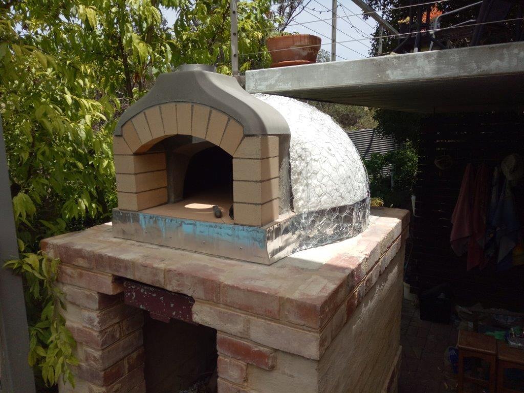 Pizza oven Ceramic fibre insulation