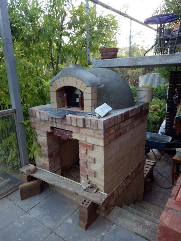 Pizza oven and base